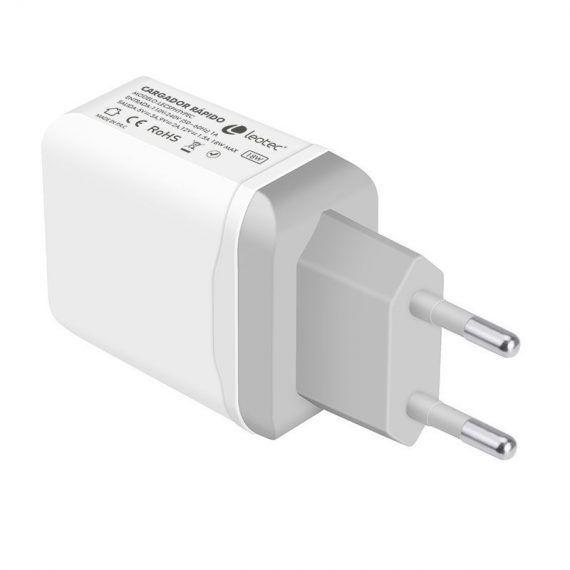 Cargador USB TypeC 18W 3A USB A con Carga rápida
